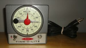 Vintage MASTER TIME-O-LITE Industrial Timer Clock M-72 Glow In The Dark