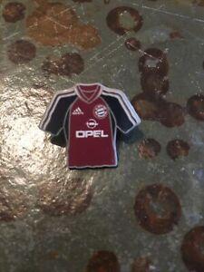 Anstecknadel FC Bayern München Fanartikel Mini Heim-Trikot 01/02 Gebraucht Opel