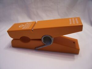 Giant orange cloths pin, mail holder, desktop or hang on the wall.