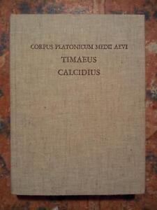 Corpus Platonicum: Plato Latinus, Timaeus, Volume IV, Warburg 1975 FILOSOFIA