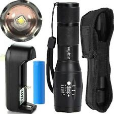 New Zoomable Tactical Led Flashlight Torch A100 Cree XM-L T6 2000 Lumens Holster
