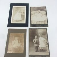 *4 Antique Black and White Photos 1904, 1907 ,Kids Baby Photo A werner New York