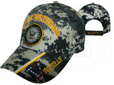 Official US Navy Licensed Cap Navy Veteran & Navy Emblem Camo Cap Hat