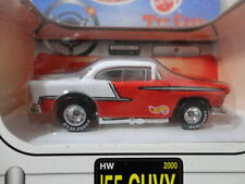 Hot Wheels '55 Chevy Red & White 1955 w/Rr Real Rubber Toy Cars Special Edition