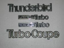 83 88 Ford Thunderbird Turbo Coupe 4 Emblems Badges Oem