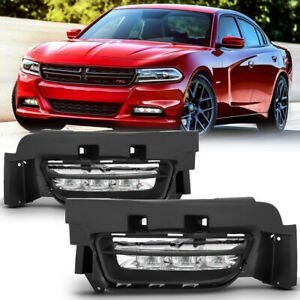 For Dodge Charger 2015-2020 Factory LED Fog Lights Bumper Driving Lamp Cover DRL