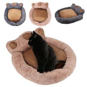 Dog Cat Pet Beds Large Mat Washable Fluffy Cushion Two-color Plush Paw 73*80cm