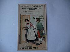 CHROMO PUBLICITAIRE CHOCOLAT GUERIN-BOUTRON N°197 GRAPHOLOGIE