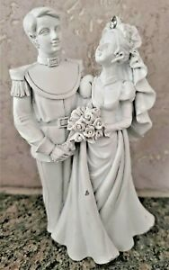 Vintage Resin Finely Detailed Wedding Cake Topper - Groom in Military Uniform