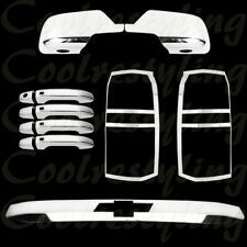 For 15-16 CHEVY TAHOE Tail Lamp//Light UPPER//Top Rear Trunk Molding Chrome Covers