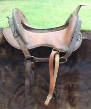 Orig Us Army McClellan Mule Packers Saddle M1913 sound tree brass horn Nice!