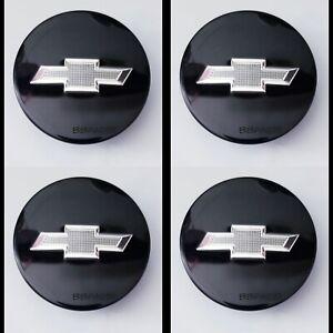 4pc Black & Chrome Center Cap Hub for Chevrolet Cruze Equinox Impala Malibu Trax