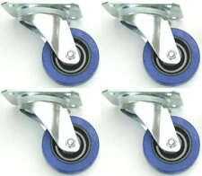 4 Stück 80mm SL Lenkrollen Blue Wheels Transportrollen Schwerlastrollen 140 kg
