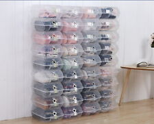 20x Harden Plastic Clear Shoe Box Toy Storage Container Sneaker Organizer Stack