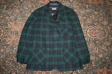 VINTAGE Pendleton Blackwatch Plaid Virgin Wool Sport Coat Shirt Jacket Large L