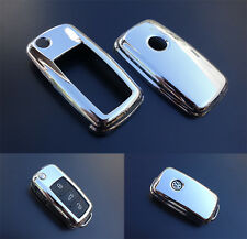 CHROME VW Car Remote Flip Key Cover Case Skin Shell Cap Fob Protection ABS 2010-