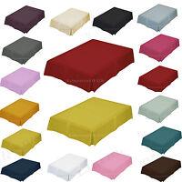 Base Valance Box Pleated Luxury Plain Dyed Poly Cotton Platform Sheet All Sizes