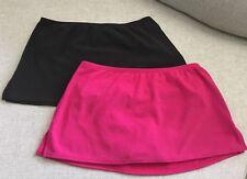 Lands End Swim Skirt Swim Bottoms Women's Size 12 Petite Set of 2! Brown Pink. F