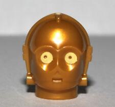 Lego Star Wars C-3PO Head Protocol Droid Tête Part Pièce Minifigure Minifig New
