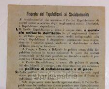 POLITICA_PROPAGANDA_PARTITI POLITICI_REPUBBLICANI_SOCIALCOMUNISTI_VOLANTINO