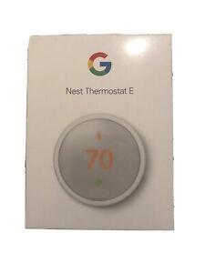 Google Nest Thermostat E - White T4000ES WiFi Thermostat Eco (Factory Sealed)