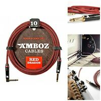10 Feet Noiseless Instrument Cables For Electric Guitar Bass Guitar