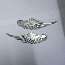 1 Pair of Chrome Wing Metal Emblem Badge Sticker Car Design 3D suv Motors Luxury