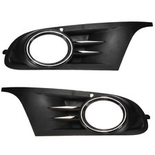 Front Bumper Lower Fog Light Grille Cover For 10-12 VW Jetta Sportwagen Golf MK6