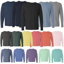 Comfort Colors 6014 3 PACK of Garment Dyed Long Sleeve Crew Neck T Shirts! WOW!