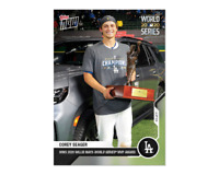 Corey Seager - MLB TOPPS NOW Card 483 - 2020 World Series Willie Mays MVP