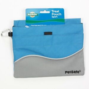 PetSafe Treat Pouch Sport, Dog Training Tool, Blue & Gray with Belt Clip NEW 082