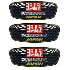 Yoshimura Aluminium Heat-resistant Motorcycle Decal Exhaust Pipe Sticker 3pc