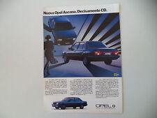 advertising Pubblicità 1985 OPEL ASCONA CD 1.6 D