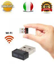Chiavetta WiFi Mini Usb 150Mbps Dongle Adattatore Wireless WLAN 802.11N ANTENNA