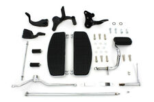 Wyatt Gatling Driver Footboard Kit with Black Brackets For Harley-Davidson