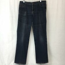 DKNY Jeans Womens Straight Leg Blue Cotton Stretch Plus Size 16x32