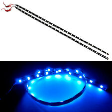 G4 AUTOMOTIVE 2x 24in 60cm Flexible LED Strip 5050 Car Under Dash Light, Blue