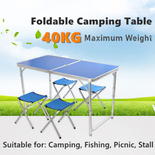 UK Folding Camping Tables Outdoor Garden Picnic Fishing Portable BBQ Patio BEST