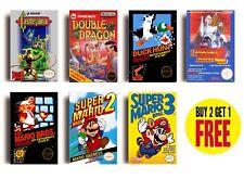 RETRO NINTENDO NES GAME POSTERS COLLECTION A3 / A4 Print Wall Decor Fan Art