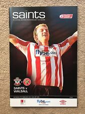 Southampton V Walsall-Coca-Cola League programme 1 2009/10
