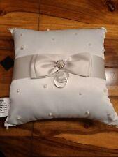Ring Bearer Pillow Wedding Lillian Rose White