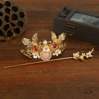 Chinese Style Hair Stick Golden Hair Coronet Hair Pin Womens Hair Accessory