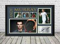 Andy Murray Signed Photo Print Poster Autographed Tennis Memorabilia
