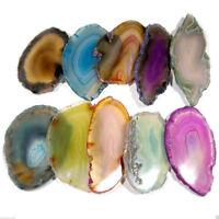 Multi Agate Geode Polished Slab Irregular Slice Crystals Stones Chakra Pendants
