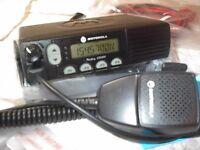MOTOROLA CM300 VHF 45 WATT 32 CHANNEL RADIO WITH  NEW ACCESSORIES PMMN4090 MIC