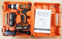 18V Cordless Drill Driver Kit Led with 2 Lithium Ion Batteries