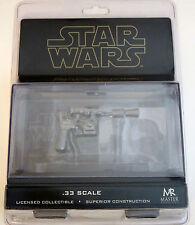 Star Wars ESB Han Solo Blaster Black Chrome .33 Scale Master Replicas SW-353
