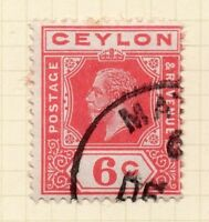 Ceylon 1912-25 Early Issue Fine Used 6c. 154498