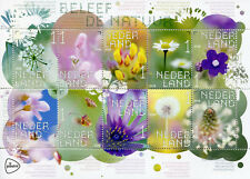 Netherlands 2018 MNH Experience Nature Meadow Wild Flowers 10v M/S Stamps