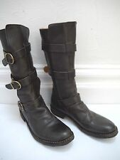 FIORENTINI + BAKER brown leather triple strap ETERNITY boots size 40 WORN TWICE